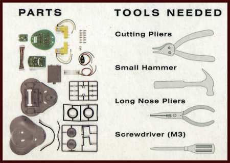 Components and required tools