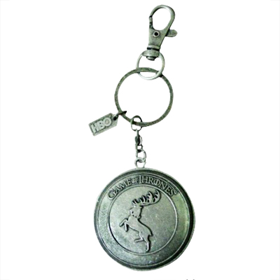 Game of Thrones Baratheon Shield Keychain Fob