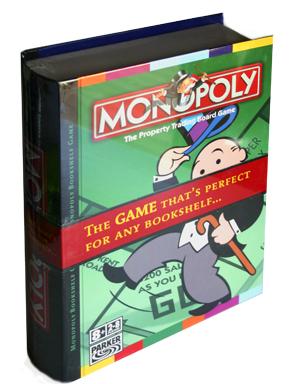 Bookshelf Monopoly classic