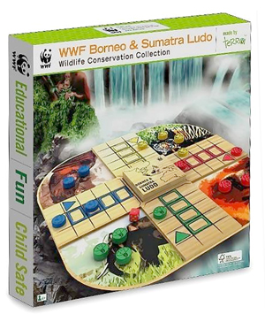 WWF Borneo and Sumatra Ludo - Wooden