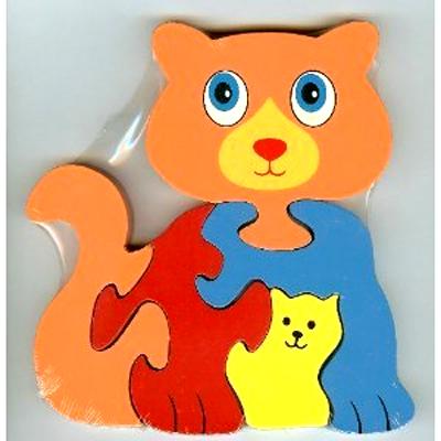 ANIMAL Theme Wooden Cat Puzzle