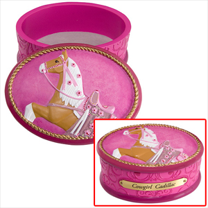 """Trail of the Painted Ponies - """"Cowgirl Cadillac"""" Keepsake Box"""