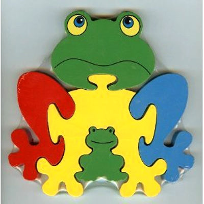 ANIMAL Theme Wooden Frog Puzzle