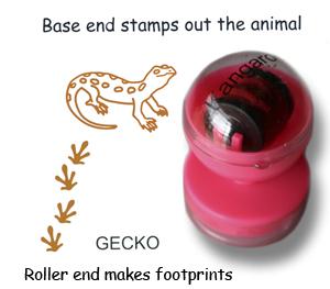 Gecko Animal Stamps