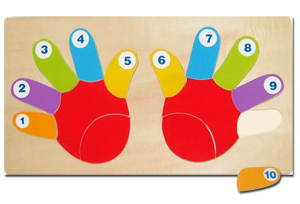 Hands Counting Wooden Puzzle