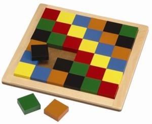 Kobba Educational Wooden Square Mosaic Pixels Board