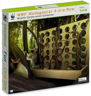 WWF Madagascar 4 in a Row - Wooden