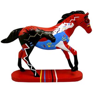 "Trail of the Painted Ponies Mini - ""BraveHearts"" Figurine 10cm"