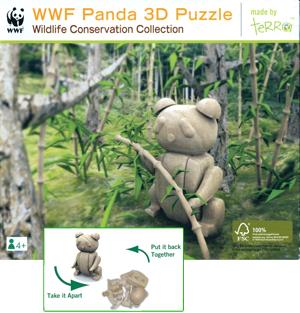 WWF Panda 3D Puzzle - Wooden