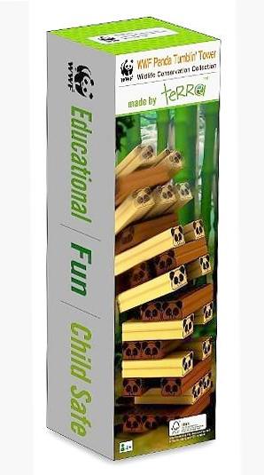 WWF Panda Tumbling Tower -Wooden