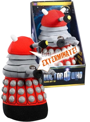 Dr Who Plush Dalek - Red with SFX