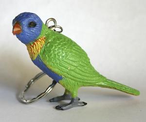 Rainbow Lorikeet Replica Key Ring 5.5cm Tall