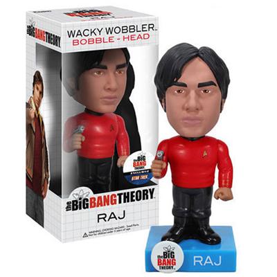 Big Bang Theory Raj Star Trek Bobble Head