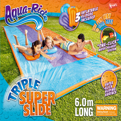 Aqua Ride Triple Super Fun Water Slide 6.0m