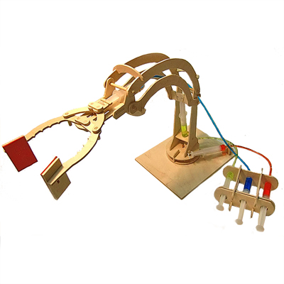 Hydralic Robot Arm Working Wooden Construction Kit
