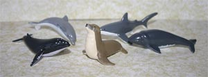 Australian Sealife Set of 5 Replicas