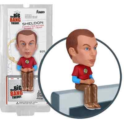 Sheldon Computer Sitter Bobble Head