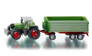 Siku - Fendt 930 Tractor with 3 Axled Tipper Trailer 1:87 Die-cast replica - 1845