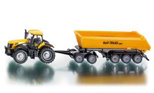Siku - JCB 825 Tractor with Dolly and Tipping Trailer - 1:87 Die-cast replica - 1858