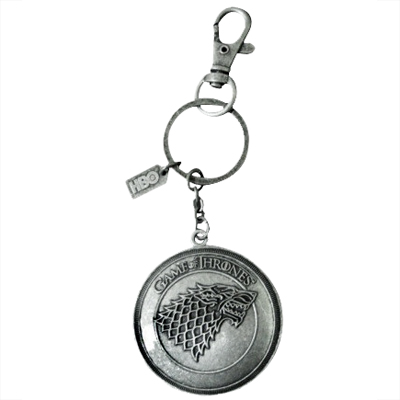 Game of Thrones Stark Shield Keychain Fob