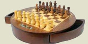 Round Tabletop Chess Set