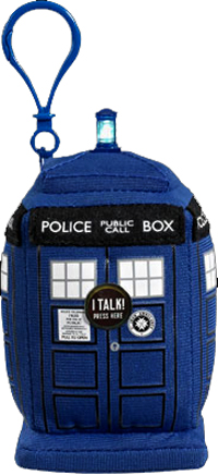 Dr Who Mini Plush Tardis Clip On with light and SFX