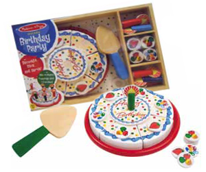Wooden Birthday Party Cake