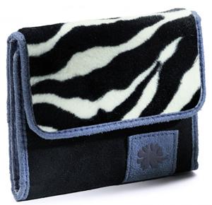 Faux Suede Zebra Wallet