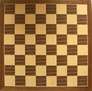Walnut Inlaid Veneer Classic Chess Board 38cm x 38cm