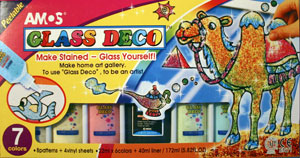 AMOS Glass Deco 22ml Confetti 7 Colour Boxed