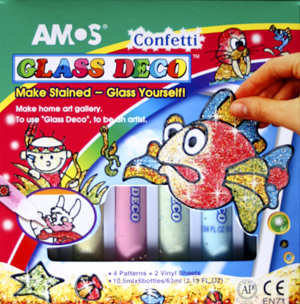 Amos - Glass Deco Confetti 10.5ml 6 Colour Pack