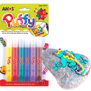 Amos Puffy Paint - 6 Colour Pack 10.5ml