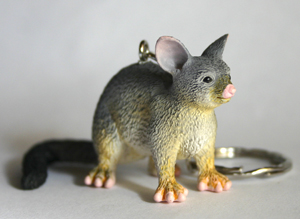 Possum Replica Key Ring 6.5cm Long
