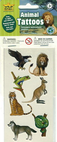 Animal Theme Tattoos - 7 pack