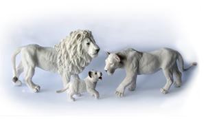 Papo White Lion Family Group