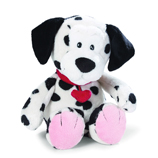 Love Message Plush Dalmation Dog