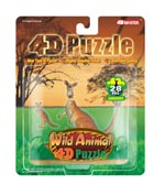 4D Puzzle Kangaroo with Joey