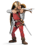 Schleich - Standing Crossbow Man Red - 70016