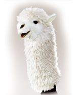 Folkmanis Alpaca Hand Puppet - White