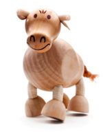 AnamalZ Bull Wooden Figure