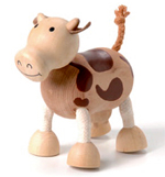 AnamalZ Cow Wooden Figure