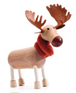 AnamalZ Moose Wooden Figure