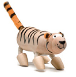 AnamalZ Tiger Wooden Figure