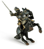 Armoured Black Knight &  Rearing Horse