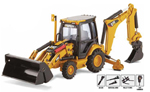 Caterpillar 420E Backhoe Loader with Tools1:50 Die-Cast Replica - 55143