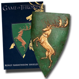 HBO Game of Thrones Prop - Renly Baratheon Stag Sigil Shield Pin