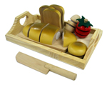 Wooden Bread Cutting Set