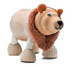 AnamalZ Brown Bear Wooden Figure