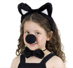 Cat Headband Nose and Bowtie Dress Up Set