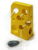 Cheese and Mouse Lacing Threader - Wooden